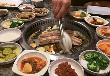 "The 8-4-3: ""Korean BBQ at 843 in North Charleston is a go-to. They have a little grill at the table, and it's fun to relax and take our time."""