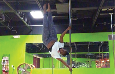 "Defying Gravity: ""I used to teach pole dancing. I'm looking forward to getting back into that when I have a little more life balance."""