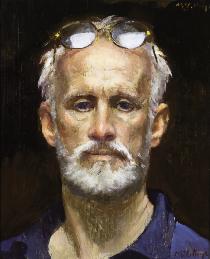 "Self Portrait, 2002, 14"" x 12"", oil on canvas"