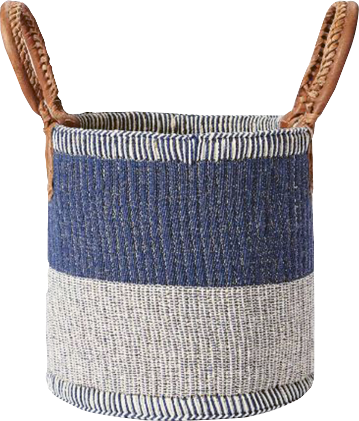 """Huntington"" basket by Serena and Lily, $148  (for 14- x 16-inch size) at  serenaandlily.com"