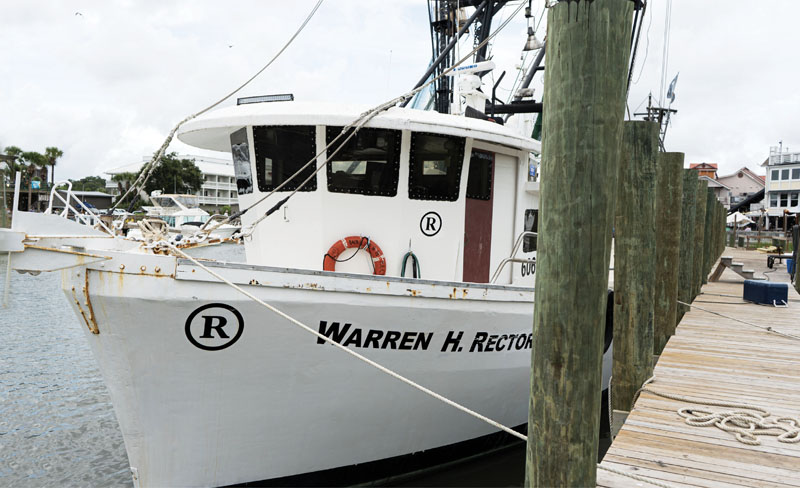 The trawler Warren H. Rector, named after Bubba's father, at Geechie Dock on Shem Creek