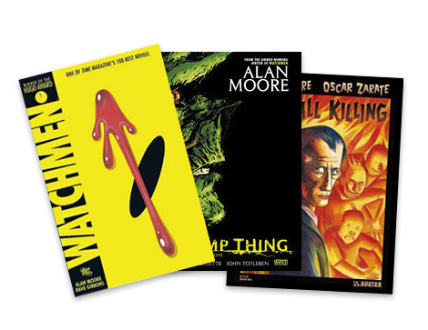 "Comic Relief  - ""When I find time to read, I like old-school graphic novels by Alan Moore."""