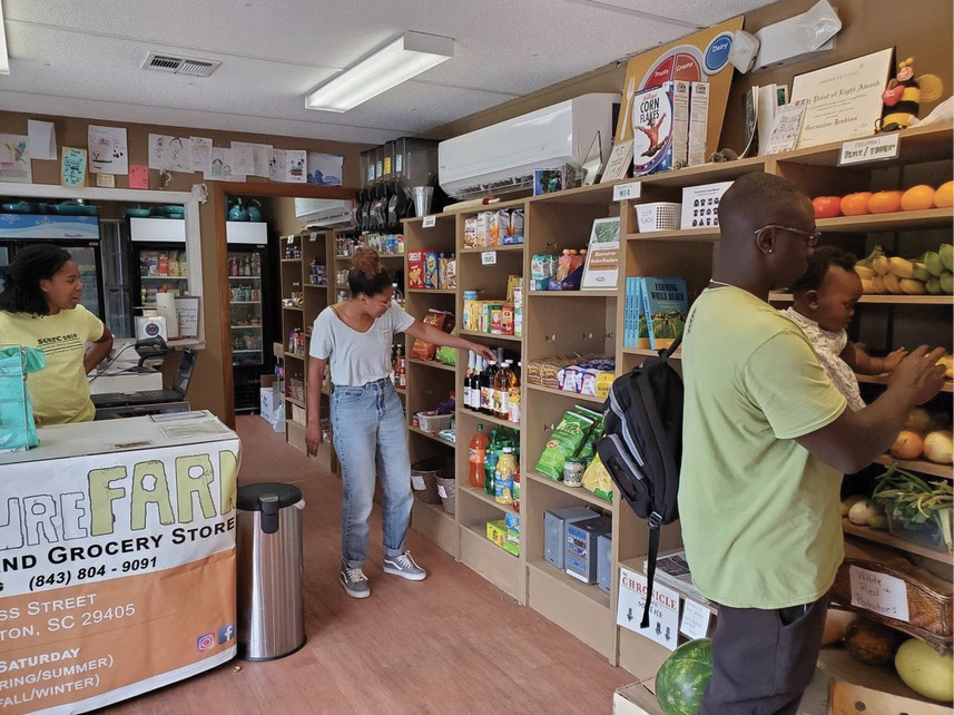 "The onsite grocery store promotes healthy eating, offering freshly harvested organic vegetables, kombucha, and other local and health-oriented products—as well as ""neck bones and potato chips,"" adds Jenkins, ""we don't judge people based on their food choices."""