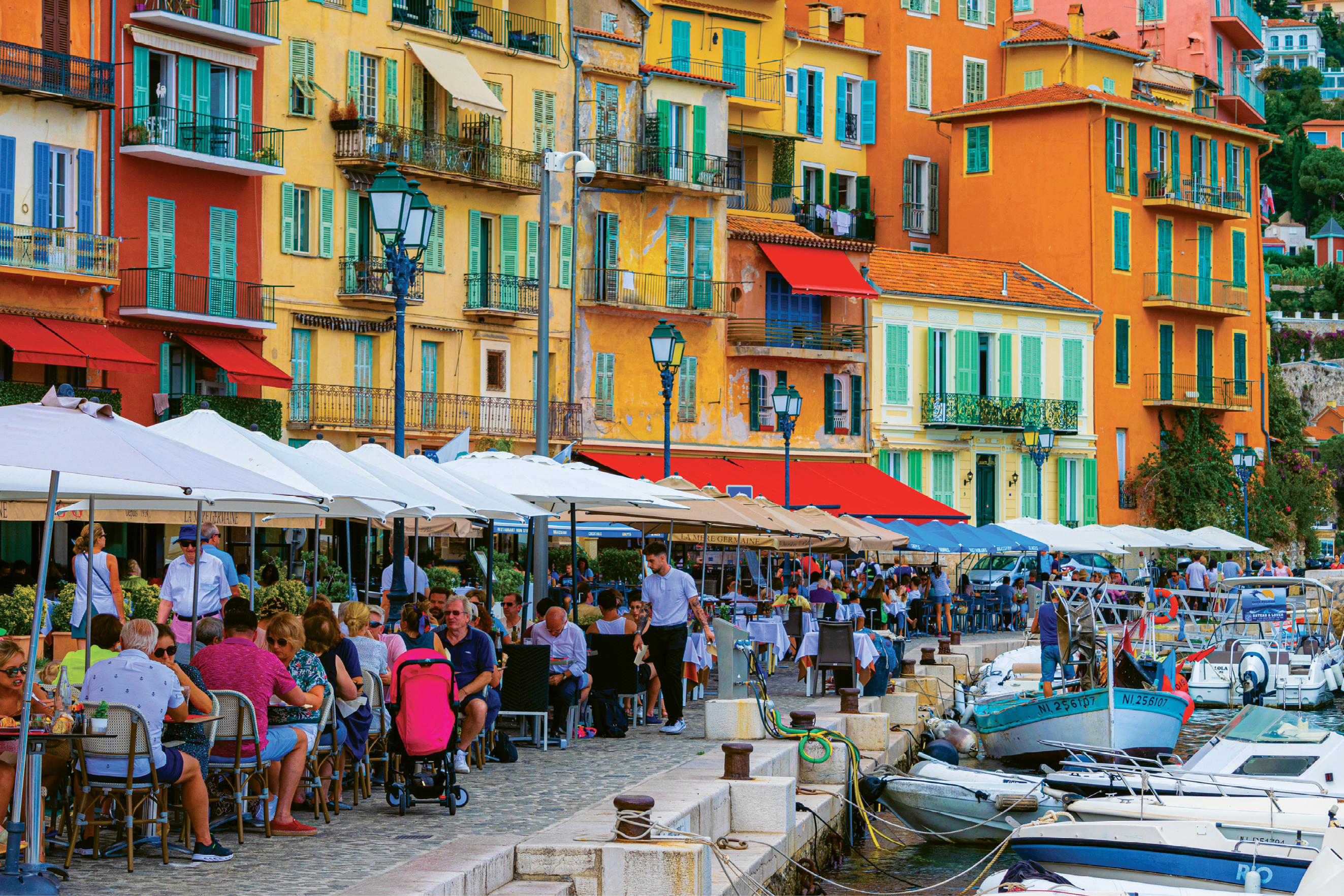 Basking in the seaside views of Villefranche-sur-Mer in all of its colorful glory