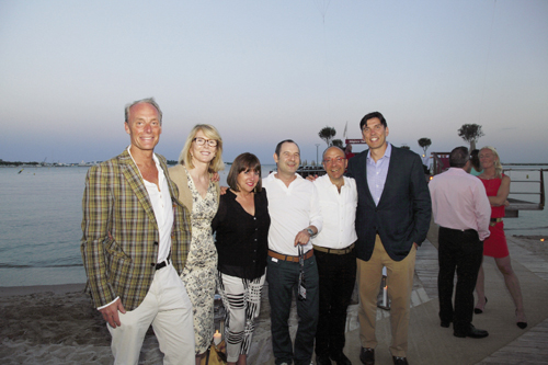 With MediaBrands CEO Matt Seiler, AOL's Built by Girls CEO Susan Lyne, Group M chief global digital officer Rob Norman, IAB (Interactive Advertising Bureau) CEO Randall Rothenberg, and AOL CEO Tim Armstrong at the Cannes Lions Festival in 2013