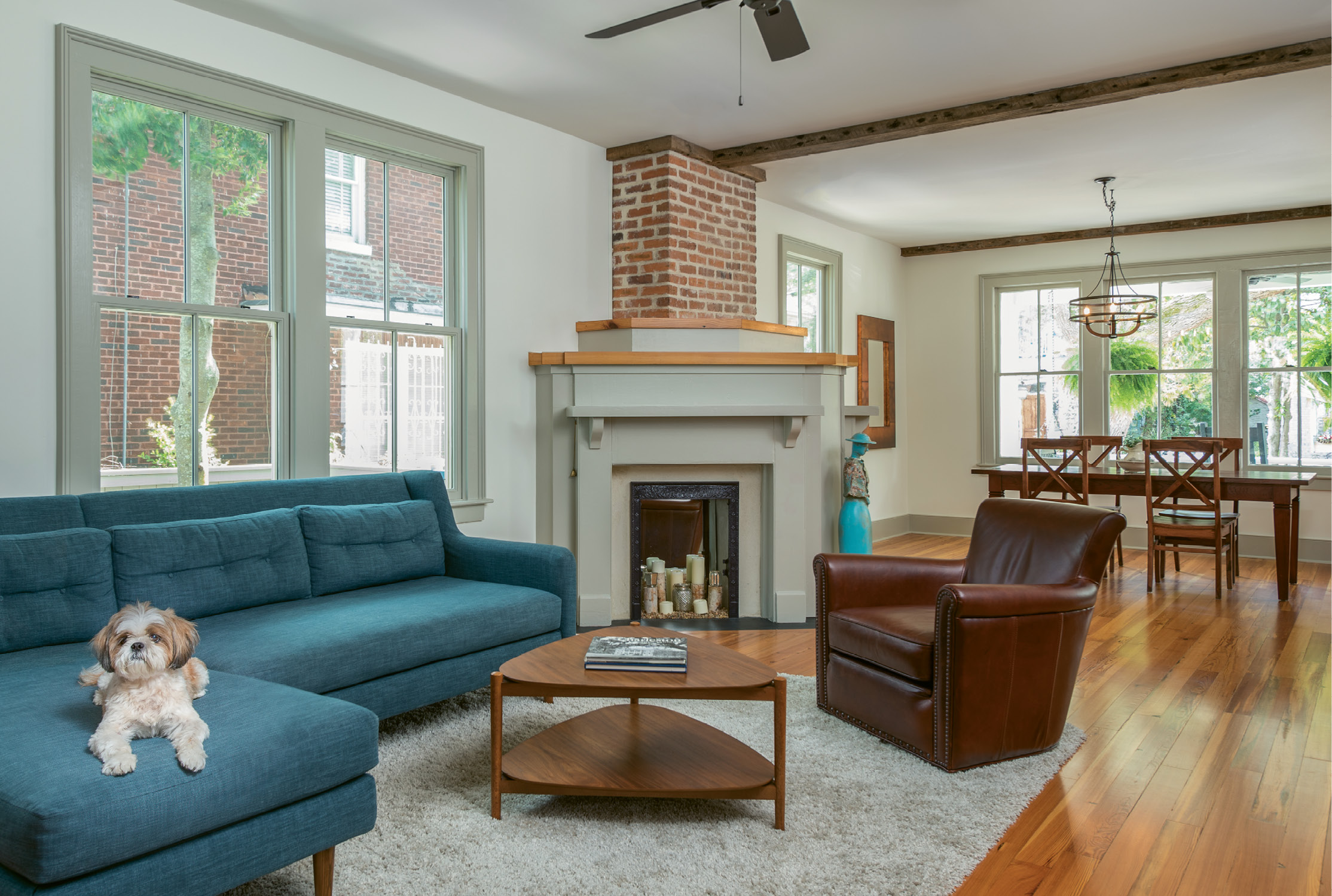 Opening Up: When an original wall separating the dining and living rooms proved unsalvable, Cindy and David took the opportunity to create a more open floor plan.