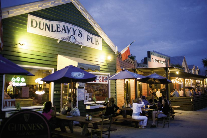 One of the oldest establishments on the block, Dunleavy's serves up live music on Tuesday and Sunday evenings along with pub fare.
