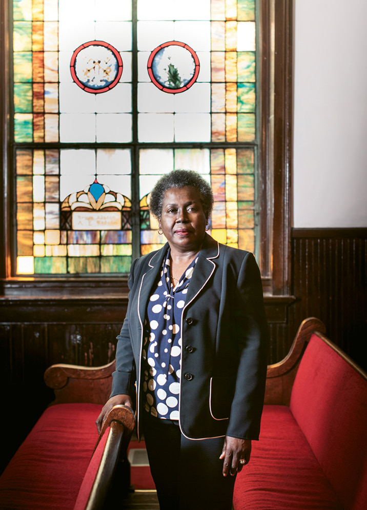 "Rev. Dr. Betty Deas Clark continues to help the congregation of Emanuel AME Church heal. ""We are more than the tragedy,"" she says. ""As followers of Jesus Christ, we are people of hope."" Photograph by Gately Williams"