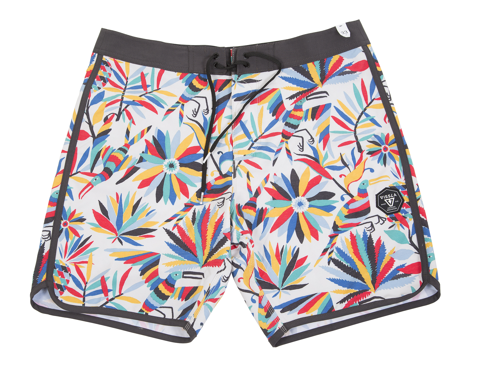 "Vissla ""Aloha Amigo Boardshorts"" in ""bone,"" $60 at Las Olas"