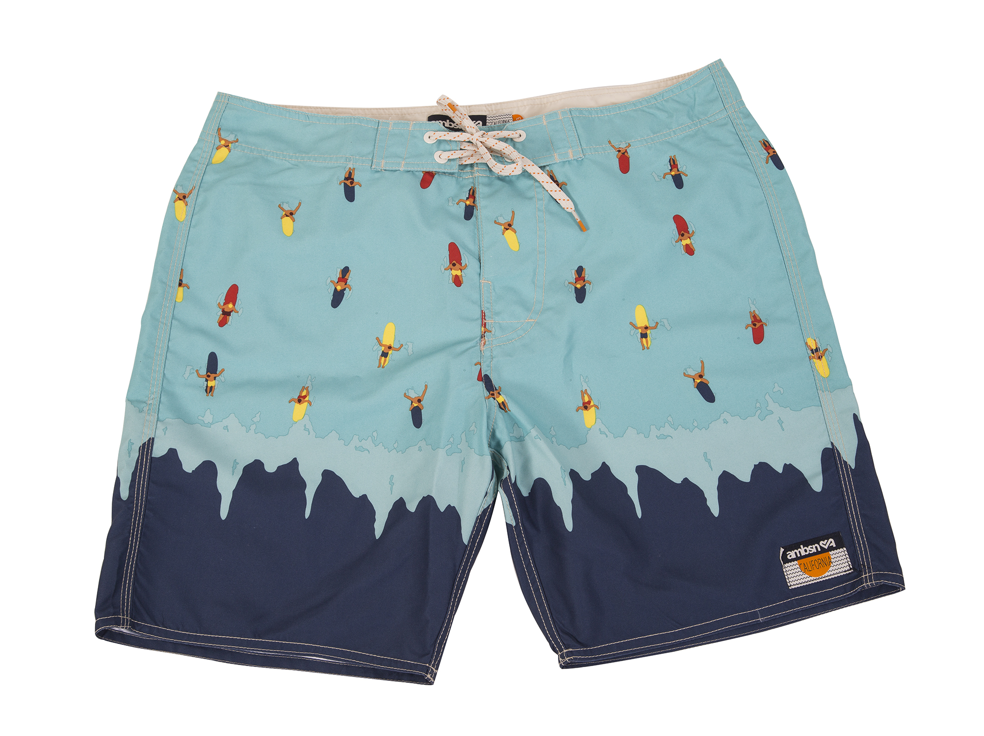"Ambsn ""Whipeout"" boardshort in navy, $60 at Hooley"