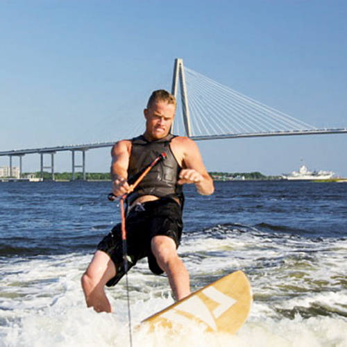 Wakeboarding in Charleston Harbor