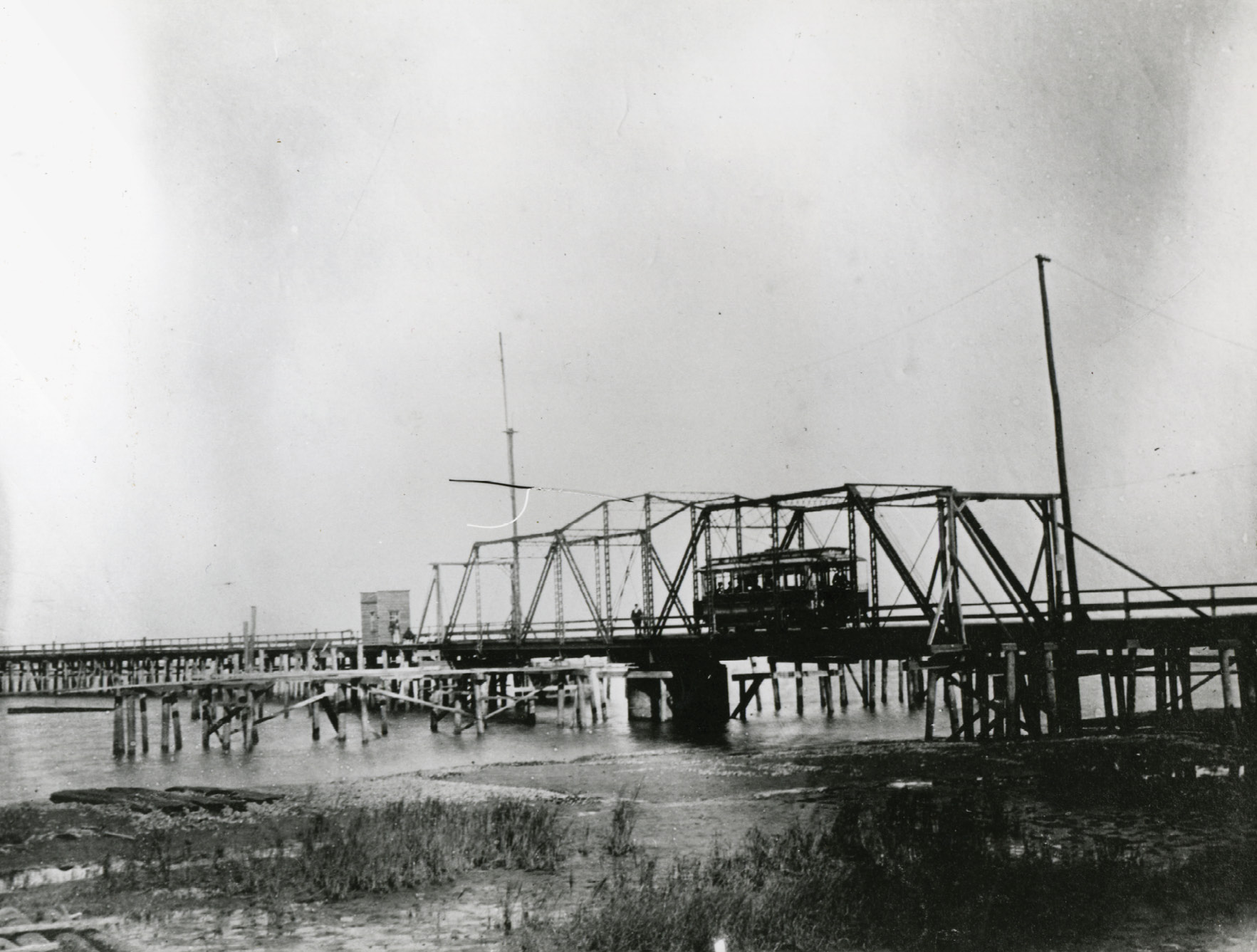 The Cove Inlet trolley bridge between the Old Village in Mount Pleasant and Station 9 on the island