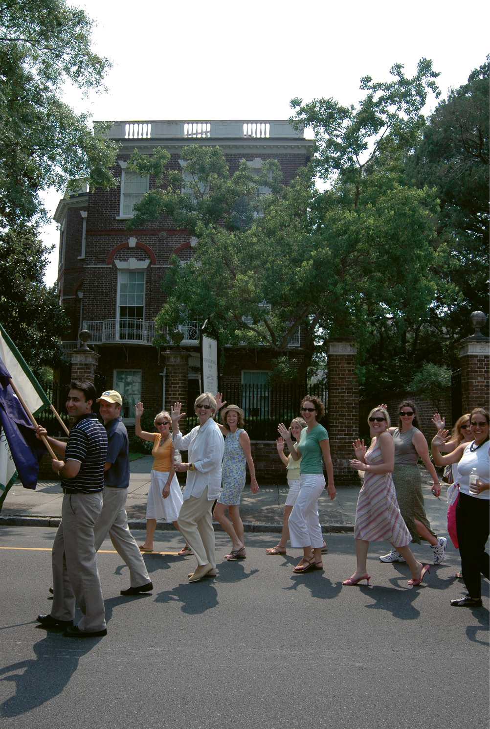Robinson and staffers parade for Carolina Day in 2010.