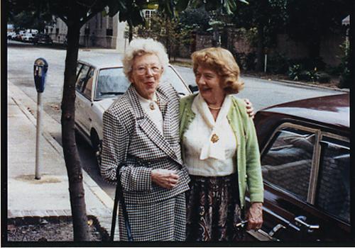 Kay Brown and Alicia Rhett in Savannah, Georgia, in 1991