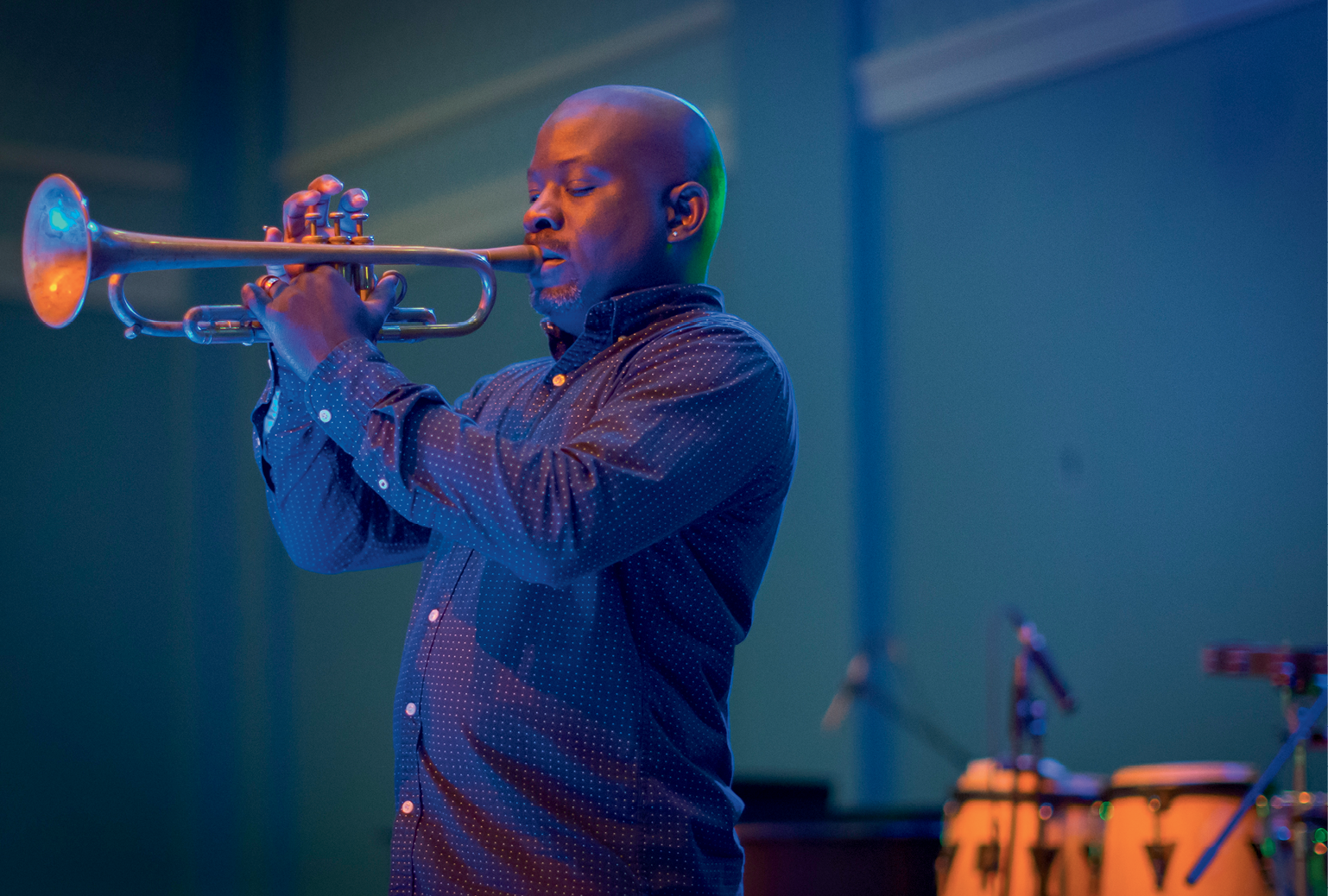 The lineup of very Charleston entertainment included jazz trumpeter Charlton Singleton, as well as singer Calvin Taylor, one of the original Drifters. Photo by Jonathan Balliet