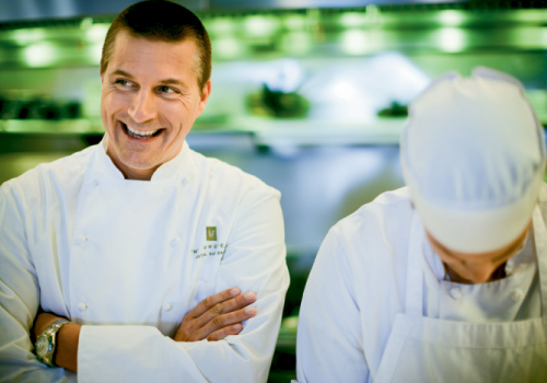 With celeb chef Scott Crawford as top toque at Heron's, the culinary scene at The Umstead is as exciting as the property. The restaurant was designed as a place equally suitable for power brokers meeting for breakfast and foodies dining at night.