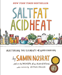 """Books a Million: """"My cookbook library is ridiculous. Julia Child's are go-tos. For Southern recipes, Nathalie Dupree. I also loved Salt. Fat. Acid. Heat."""""""