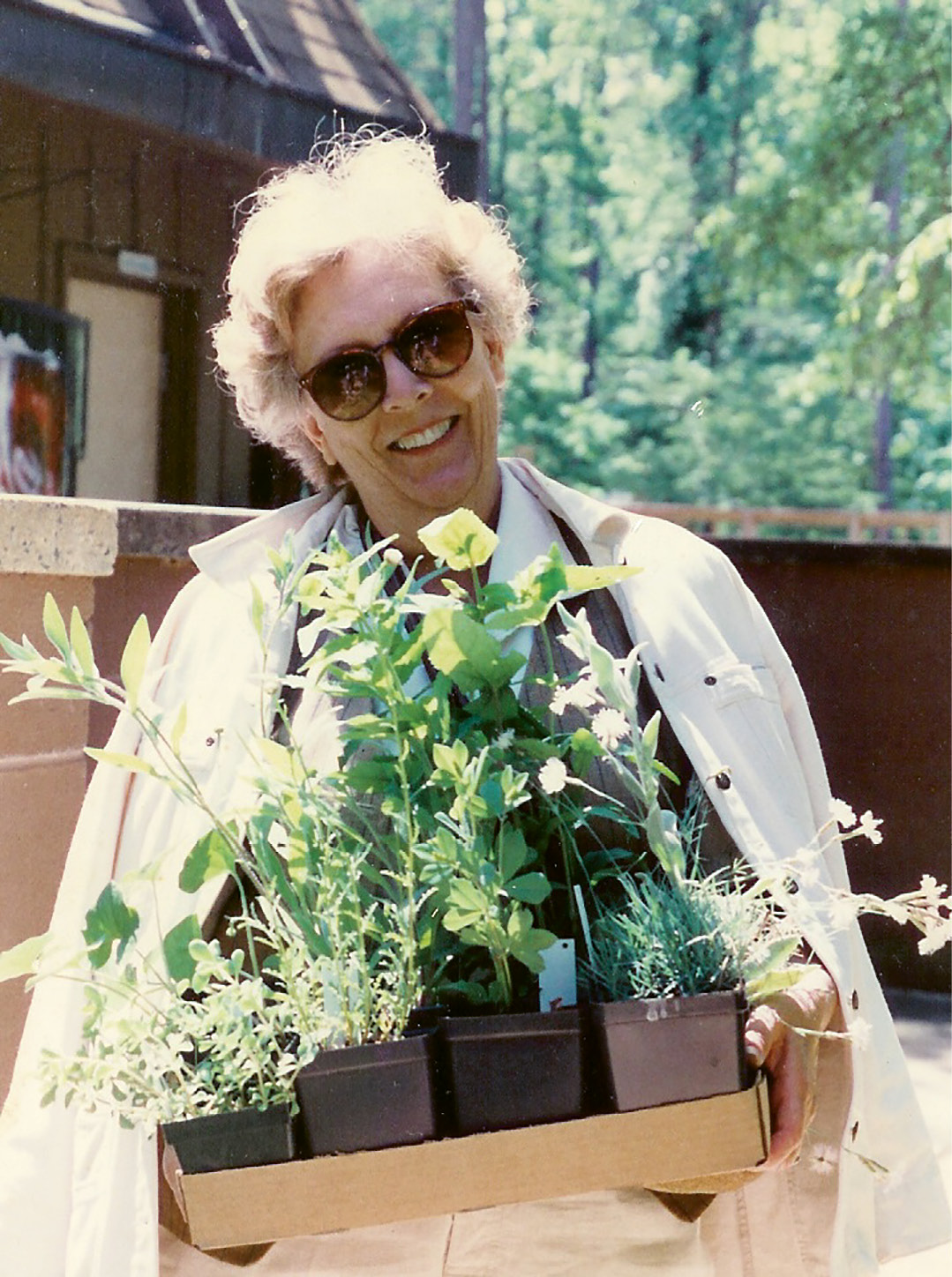 EVERGREEN THUMB: Patti at the Charleston Garden Festival, which predated Charleston Horticultural Society and its annual Plantasia event
