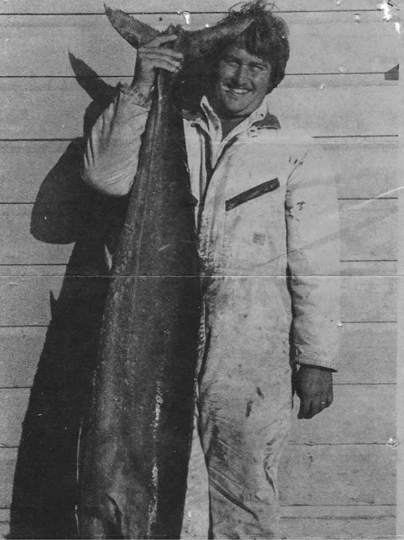 Mark in 1989 with a 92-pound wahoo