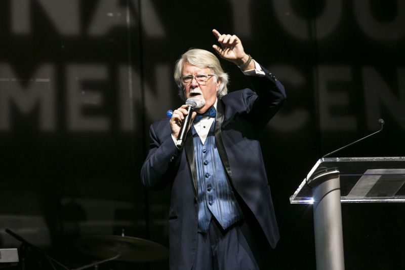 Ken French of Crews Chevrolet acted as the evening's lively auctioneer.