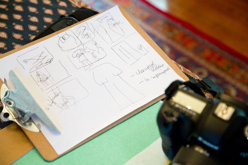 Caroline's quick sketch; photo by Mac Kilduff