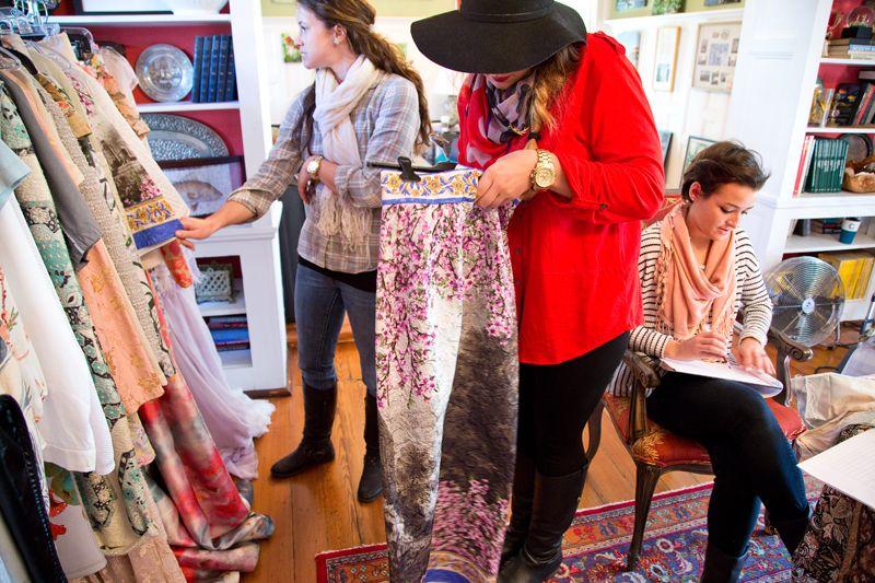 Dolce & Gabbana printed maxi skirt; photo by Mac Kilduff