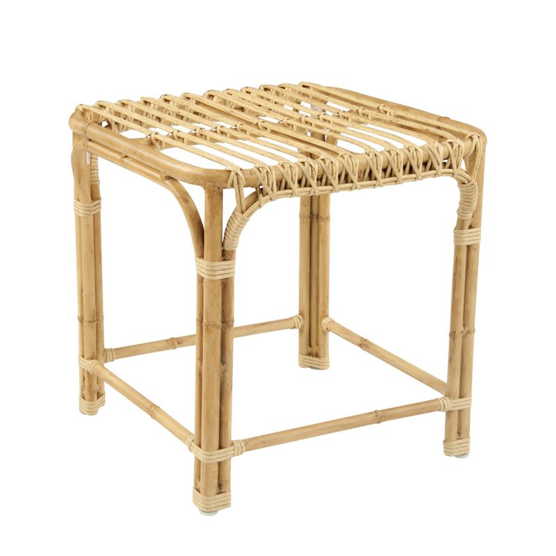 Savannah Collection by Kingsley Bate rattan side table, price upon request at GDC
