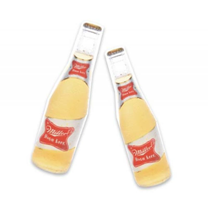 """Poppin' Bottles: """"After work, Miller High Life is our thirst quencher. We go with 'cold and quick' when we drink it."""""""
