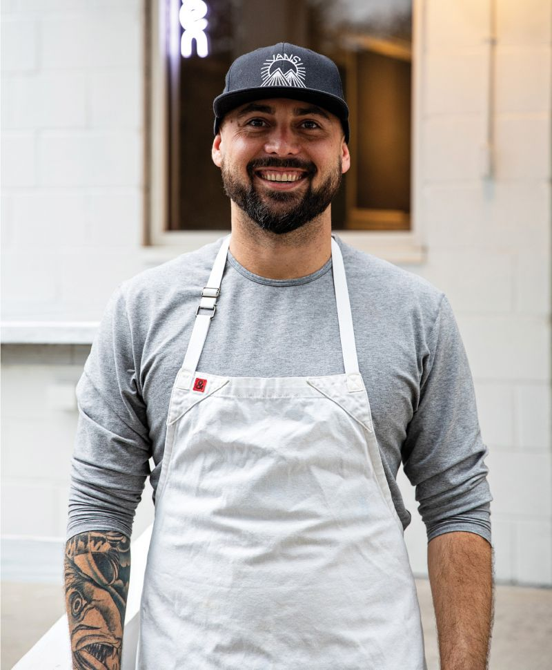 Brian and his business partner, Chris John, updated the old Huff's Seafood on Folly Road, opening last December to sell fresh fish, smoked items, fried fish sandwiches, and crudos.