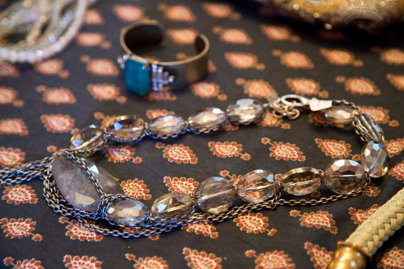 Antiqued cuff from Copper Penny and beaded necklace from RTW; photo by Mac Kilduff