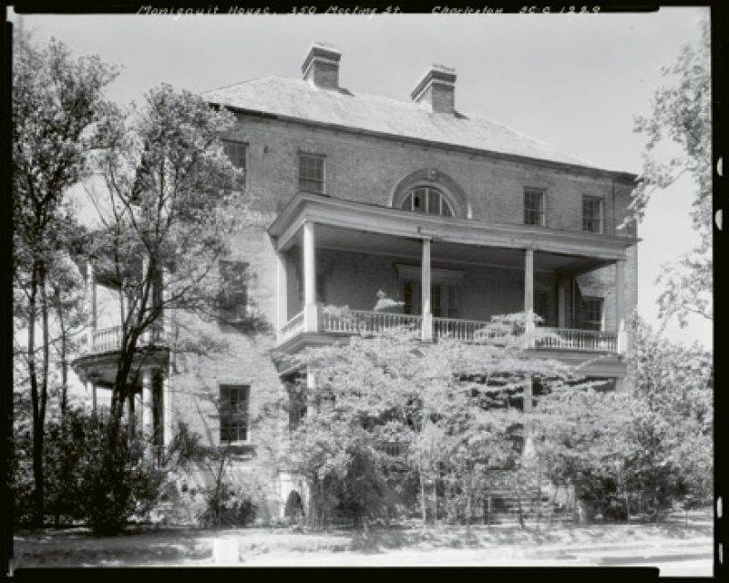 """On April 17, 1932, Marjorie, along with Mrs. Francis Pelzer, Mrs. Washington A. Roebling, Mrs. Julius Heyward, and Miss Eugenia A. Frost, hosted a """"card tournament"""" to raise funds for saving the Manigault House (350 Meeting Street) through the Society for the Preservation of Old Dwellings."""