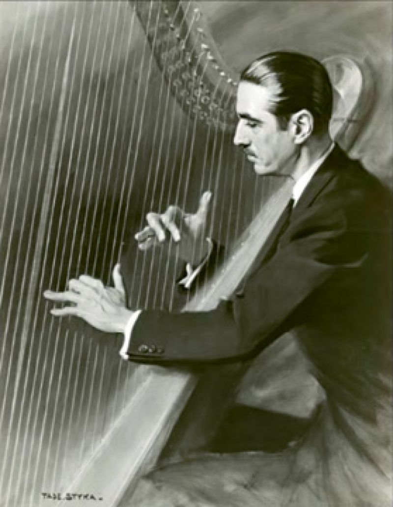In February 1934, Marjorie and the Ladies Aid Society of St. Michael's arranged for a concert by French harpist Marcel Grandjany at the Academy of Music to benefit the Crafts School Parent-Teacher Association.
