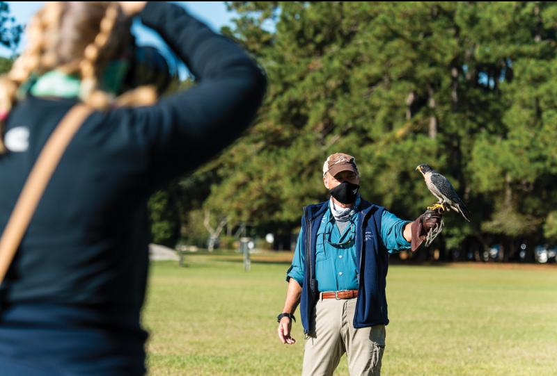 Flight demos at the Center of Birds of Prey.