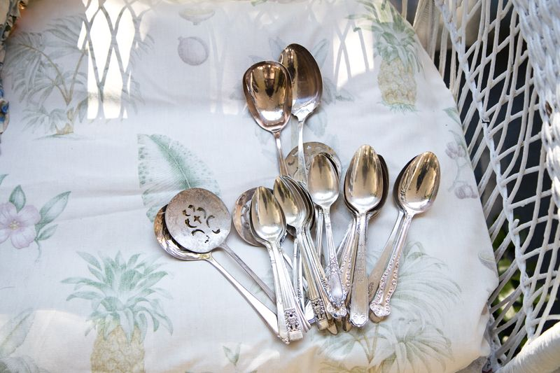 Silver spoons from Polished! ; photo by Mac Kilduff