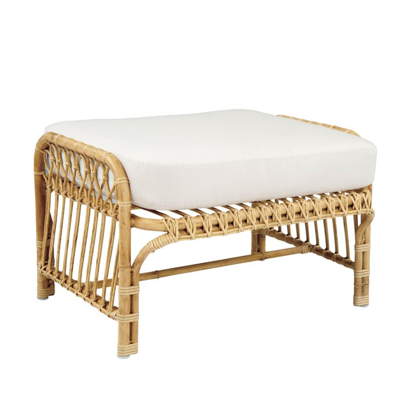 Savannah Collection by Kingsley Bate rattan ottoman, price upon request at GDC