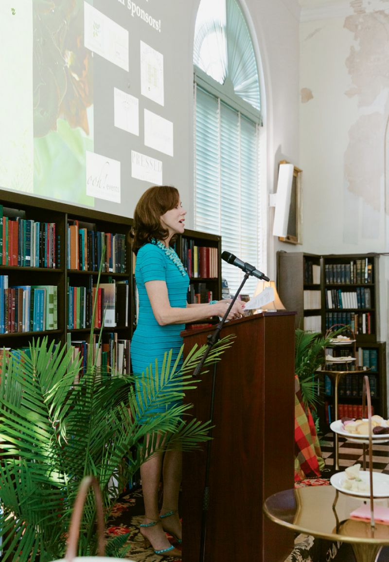 Roehm, a former board member of the New York Public Library, celebrated the release of Style & Design with a Charleston Library Society High Tea in October 2018; photograph by Kim Graham.