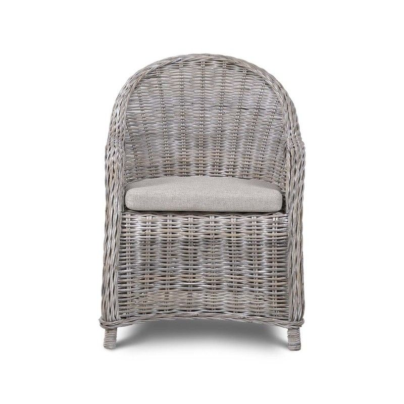 Vinyard Kabu chair in white washed rattan, $195 at Steven Shell Living