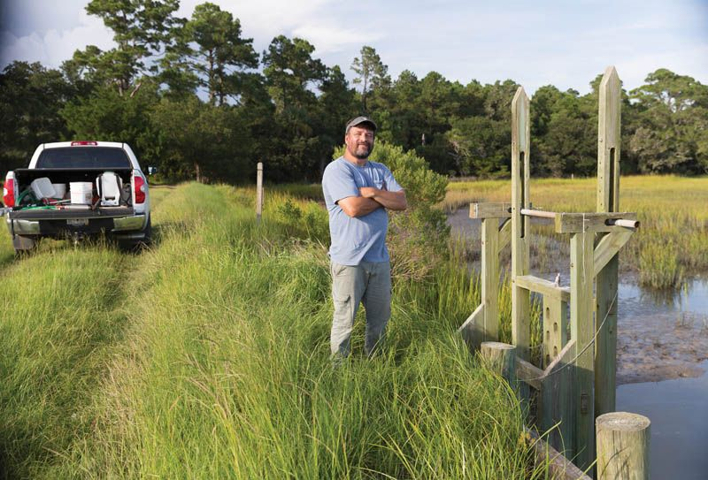 The Steward: Jeff Snyder, a biologist, knows every nook, creek, and cranny of these 2,200 acres. He has lived on-site and managed the land after the Beach Company bought it in 1995, building rice trunks to enhance water features for the property's abundant wildlife.