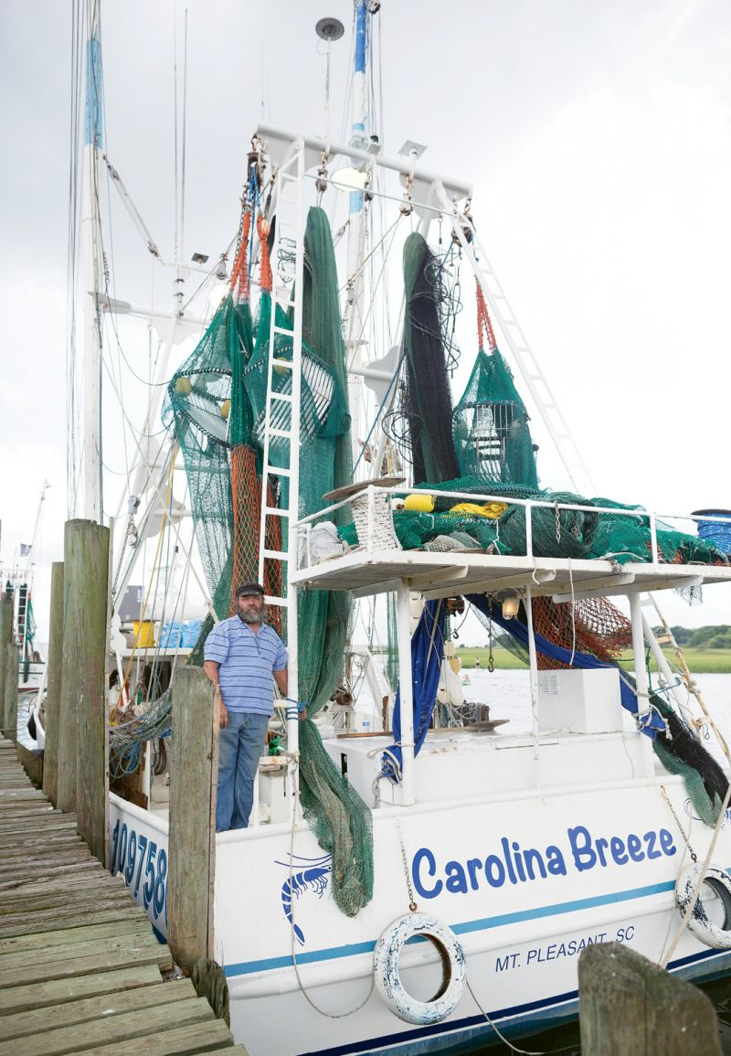 Captain Donnie Brown runs the Tarvin family's new steel-hulled trawler, Carolina Breeze.