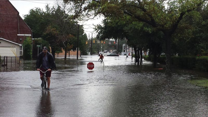 """""""Flooding remains our number one priority,"""" says Mayor Tecklenburg."""