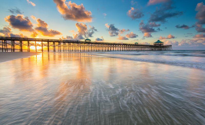 A New Day: Sunrise and the Folly Beach Pier
