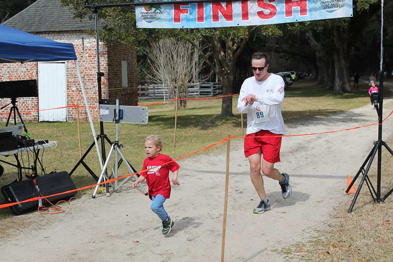 Runners celebrated as they completed the 5K