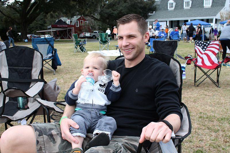 Gus Morse with baby Caleb Morse