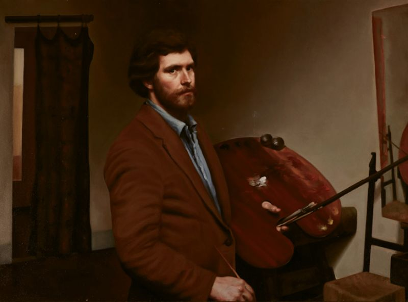 Self Portrait by Ben Long (oil on linen, undated)