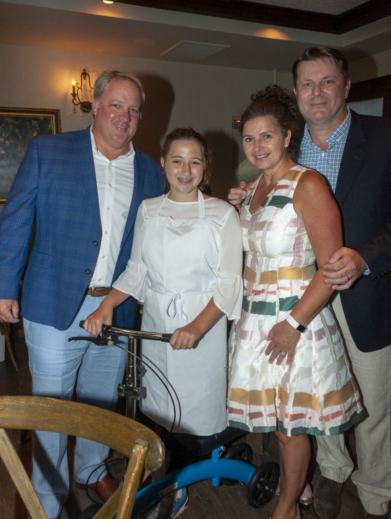 Brian Hurd, Little Chef Isabella Hurd, April Stephens, and Steven Morris