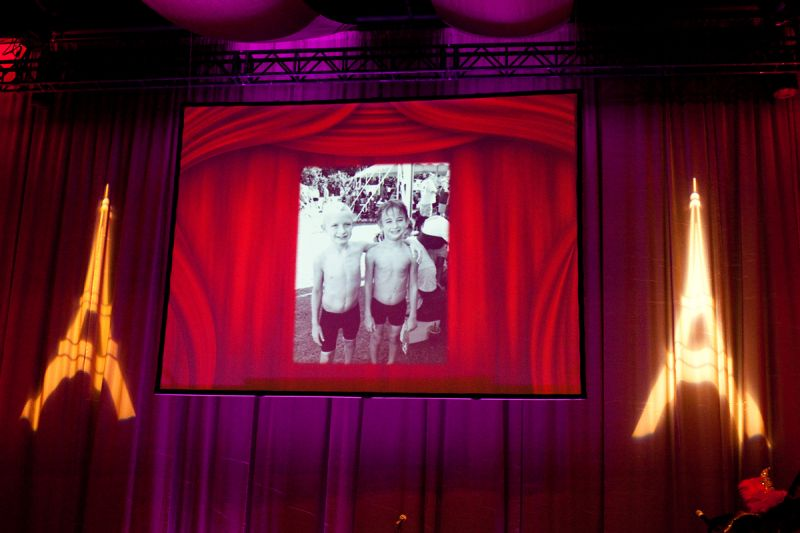 A slideshow spotlighted donors and children who have been aided by the organization.