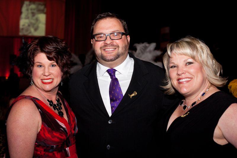Stephanie and Wally Baird with Courtney Bruffey