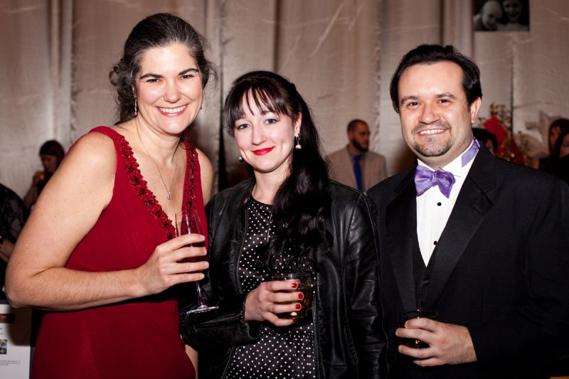 Abbie Hughes, Rachel Anderson, and Tyler Bennett