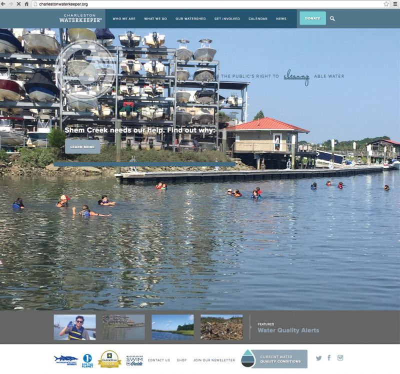 "Check the ""swimmability"" of 15 local sites at charlestonwaterkeeper.org (above), download the Swim Guide app: theswimguide.org/get-the-app/, or get involved with its community cleanup efforts."
