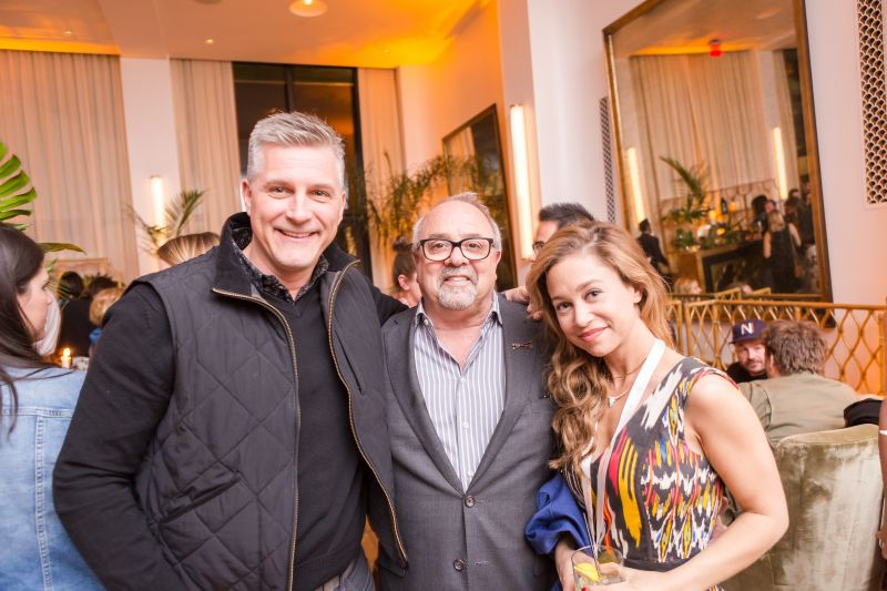 Chef Scott Crawford, Mickey Baskt, and a friend